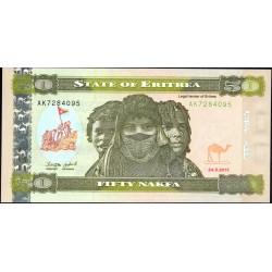 Эритрия 50 накфа 2011 год (ERITREA 50 nakfa 2011 g.) P10:Unc