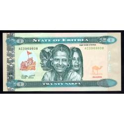 Эритрия 20 накфа 2012 год (ERITREA 20 nakfa 2012 g.) P12:Unc