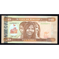 Эритрия 10 накфа 2012 г. (ERITREA 10 nakfa 2012 g.) P11:Unc