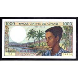 Коморские Острова 1000 франков ND (1986 год) (COMORES 1000 francs ND (1986 g.)) P11a:Unc