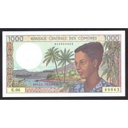 Коморские Острова 1000 франков ND (1994 год) (COMORES 1000 francs ND (1994 g.)) P11b:Unc