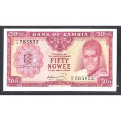 Замбия 50 нгве ND (1969 год) (ZAMBIA 50 ngwee ND (1969 g.) P9b:Unc