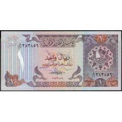 Катар 1 риал б/д (1985 г.) (Qatar 1 riyal ND (1985 year)) P13b:Unc