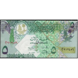Катар 5 риалов б/д (2003 г.) (Qatar 5 riyals ND (2003 year)) P21:Unc