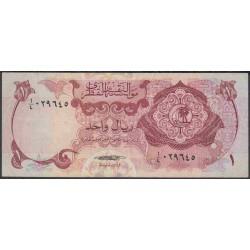 Катар 1 риал б/д (1973 г.) (Qatar 1 riyal ND (1973 year)) P1a:VF