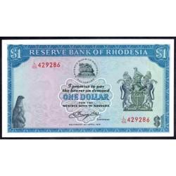 Родезия 1 доллар 1978 г. (RHODESIA 1 dollar 1978 g.) P34c:Unc