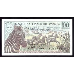 Руанда 100 франков 1978 г. (RWANDA 100 francs 1978 g.) P12:Unc