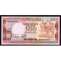 Руанда 500 франков 1981 г. (RWANDA 500 francs 1981 g.) P16:Unc