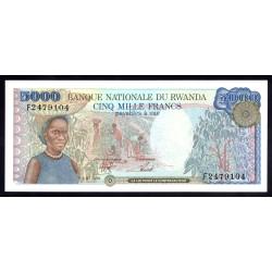 Руанда 5000 франков 1988 г. (RWANDA 5000 francs 1988 g.) P22:Unc