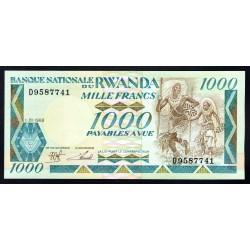 Руанда 1000 франков 1988 г. (RWANDA 1000 francs 1988 g.) P21:Unc