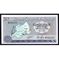 Руанда 50 франков 1976 г. (RWANDA 50 francs 1976 g.) P7с:Unc