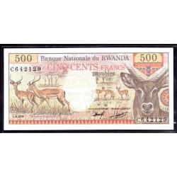 Руанда 500 франков 1978 г. (RWANDA 500 francs 1978 g.) P13:Unc