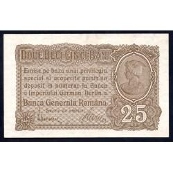 Румыния 25 бани ND (1917) (ROMANIA 25 Bani ND (1917)) PM1:Unc