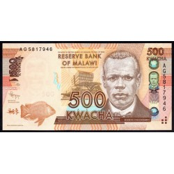 Малави 500 квача 2012 г. (MALAWI 500 Kwacha 2012) P61а:Unc