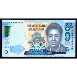 Малави 200 квача 2016 г. (MALAWI 200 Kwacha 2016) P60с:Unc