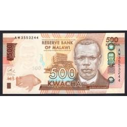 Малави 500 квача 2016 г. (MALAWI 500 Kwacha 2016) P66:Unc