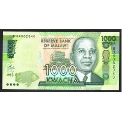 Малави 1000 квача 2016 г. (MALAWI 1000 Kwacha 2016) P67b:Unc