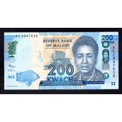 Малави 200 квача 2012 г. (MALAWI 200 Kwacha 2012) P60a:Unc