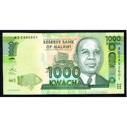 Малави 1000 квача 2013 г. (MALAWI 1000 Kwacha 2013) P62b:Unc