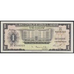 Сальвадор 1 колон 1963 года (EL SALVADOR  1 Colon 1963) P 100: UNC-/UNC