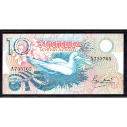 Сейшельские Острова 10 рупий ND (1979 г.) (Seychelles  10 rupees ND (1979 g.) P23:Unc