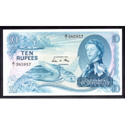 Сейшельские Острова 10 рупий 1974 г. (Seychelles  10 rupees 1974 g.) P15b:Unc