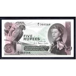 Сейшельские Острова 5 рупий 1968 г. (Seychelles  5 rupees 1968 g.) P14:Unc