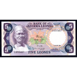 Сьерра - Леоне 5 леоне ND (1984 г.) (SIERRA LEONE 5 leones ND (1984 g.)) P7е:Unc