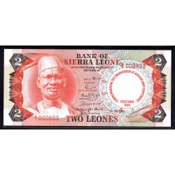 Сьерра - Леоне 2 леоне 1980 г. (SIERRA LEONE 2 leones 1980 g.) P11:Unc