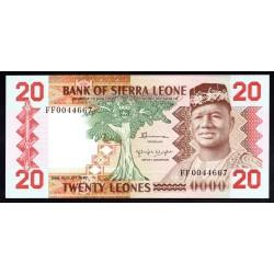 Сьерра - Леоне 20 леоне 1982 г. (SIERRA LEONE 20 leones 1982 g.) P14а:Unc