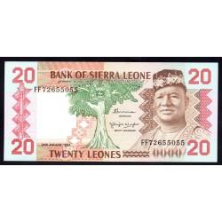 Сьерра - Леоне 20 леоне 1984 г. (SIERRA LEONE 20 leones 1984 g.) P14b:Unc