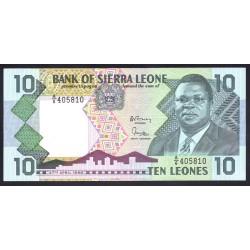 Сьерра - Леоне 10 леоне 1988 г. (SIERRA LEONE 10 leones 1988 g.) P15:Unc