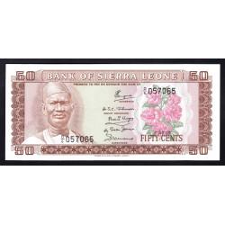 Сьерра - Леоне 50 центов ND (1979 г.) (SIERRA LEONE 50 cents ND (1979 g.)) P4с:Unc