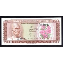 Сьерра - Леоне 50 центов ND (1984 г.) (SIERRA LEONE 50 cents ND (1984 g.)) P4е:Unc