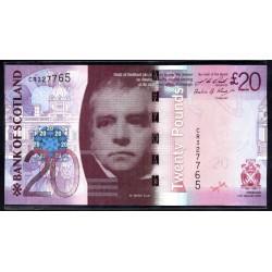 Шотландия 20 фунтов 2009 г. (SCOTLAND 20 Pounds Sterling 2009) P126b:Unc