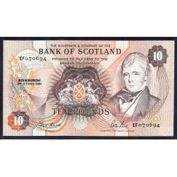 Шотландия 10 фунтов 1990 г. (SCOTLAND 10 Pounds 1990) P113d:Unc