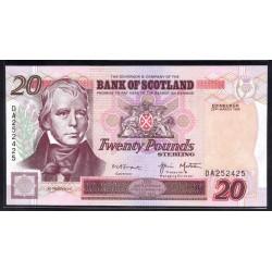 Шотландия 20 фунтов 1999 г. (SCOTLAND 20 Pounds Sterling 1999) P121с:Unc