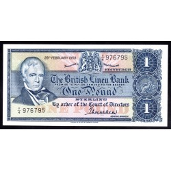 Шотландия 1 фунт 1968 г. (SCOTLAND 1 Pound Sterling 1968) P169a:Unc