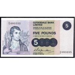 Шотландия 5 фунтов 1972 г. (SCOTLAND 5 Pounds 1972) P205b:Unc