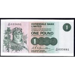 Шотландия 1 фунт 1975 г. (SCOTLAND 1 Pound 1975) P204с:Unc