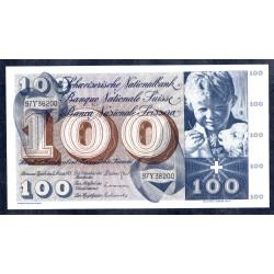 Швейцария 100 франков 1973 г. (SWITZERLAND 100 Franken 1973)  P49о:Unc