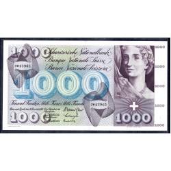 Швейцария 1000 франков 1961 г. (SWITZERLAND 1000 Franken 1961)  P52e:Unc