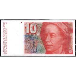 Швейцария 10 франков 1979 г. (SWITZERLAND 10 Franken 1979)  P53а:Unc
