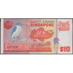 Сингапур 10 долларов б\д (1976) (Singapore 10 dollars ND (1976)) P 11b : aUnc-