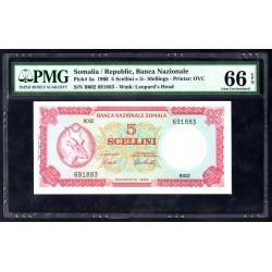 Сомали 5 шиллингов 1966 г. (SOMALIA 5 shillings 1966 g.)P5a:66 greid slab