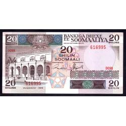 Сомали 20 шиллингов 1989 г. (SOMALIA 20 shillings 1989 g.) P33d:Unc