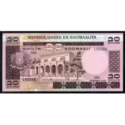 Сомали 20 шиллингов 1978 г. (SOMALIA 20 shillings 1978 g.) P23:Unc