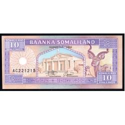 Сомалиленд 10 шиллингов 1994 г. (SOMALILAND 10 shillings 1994 g.) P2a:Unc