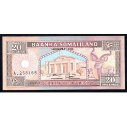 Сомалиленд 20 шиллингов 1996 г. (SOMALILAND 20 shillings 1996 g.) P3b:Unc
