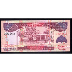Сомалиленд 1000 шиллингов 2011 г. (SOMALILAND 1000 shillings 2011 g.) P20а:Unc